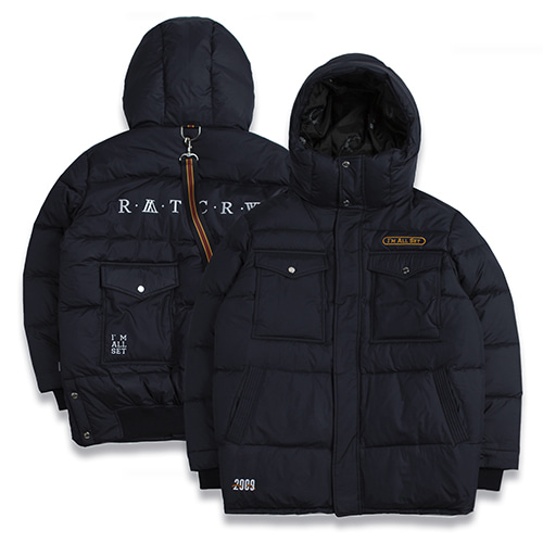 [ROMANTICCROWN]ALL SET GOOSE DOWN PARKA NAVY