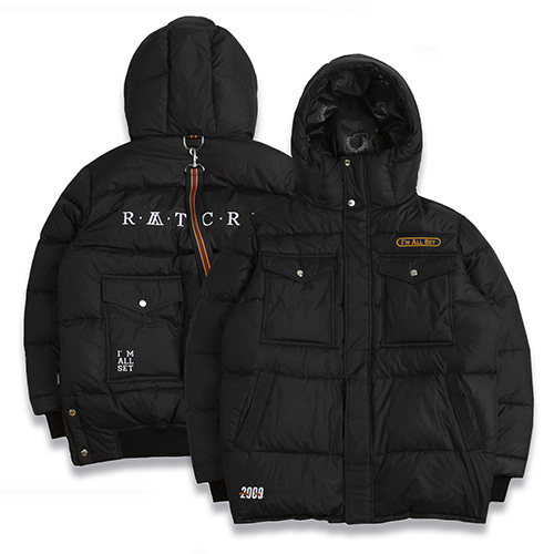 [ROMANTICCROWN]ALL SET GOOSE DOWN PARKA BLACK