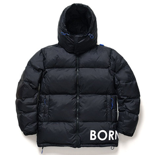 [BORNCHAMPS] SIDE LOGO DOWN PARKA BLACK CERDMDW02BK